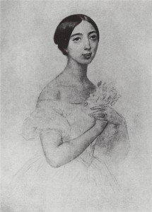 Pauline Viardot depicted in an 1844 painting by Karl Bryullov.