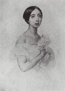 Pauline Viardot depicted in an 1844 painting by Karl Bryullov.